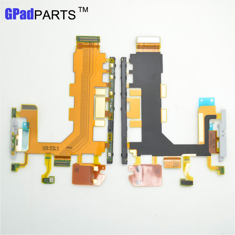 Black WHite For Sony Xperia Z2 L50W D6503 Motherboard Power Volume & Mic Ribbon Flex Cable 3G version(China (Mainland))