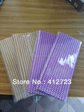 creative paper dark purple and brown chevron drinking straw for Halloween holiday party favors Christmas decoration supplies