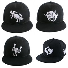 new popular women men hip hop snapback custom brand strapback Horoscope star signs cute boy girl baseball cap sports gorras