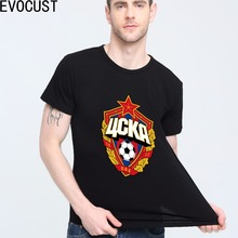 The central cska Moscow Russia LOGO T-shirt Top Lycra Cotton Men T shirt New Design High Quality(China)