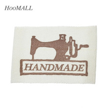 Hoomall Brand 200PCs Handmade Cotton Fabric Woven Brand Labels DIY Sewing Accessory Grosgrain Clothing Label(China)