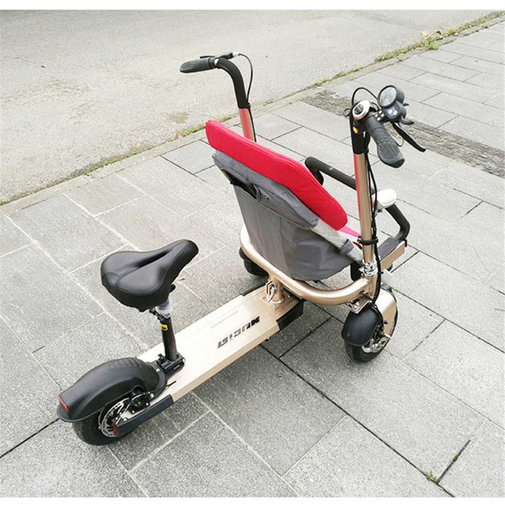 12 Inch Aluminum Alloy Removable Load 160kg Mini 36V 12Ah Electric Family Bicycle Pram Mother and Child Car Stroller15