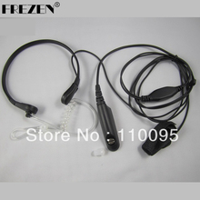 Throat Mic Earpiece/Headset For Motorola Walkie Talkie Radios GP328/340/GP 338/PTX760 Walkie talkie(China)