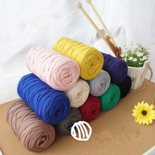 200g/ball Soft Thick 90% Cotton Yarn  For Knitting Carpet Hot Sale Cloth Fancy Yarn 9-10mm Crochet Apparel Sewing para tejer