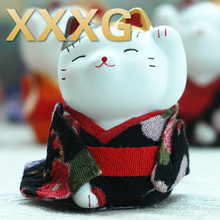 XXXG//Genuine Japanese Mini Lucky Cat decoration car decoration small opening housewarming wedding gift and money