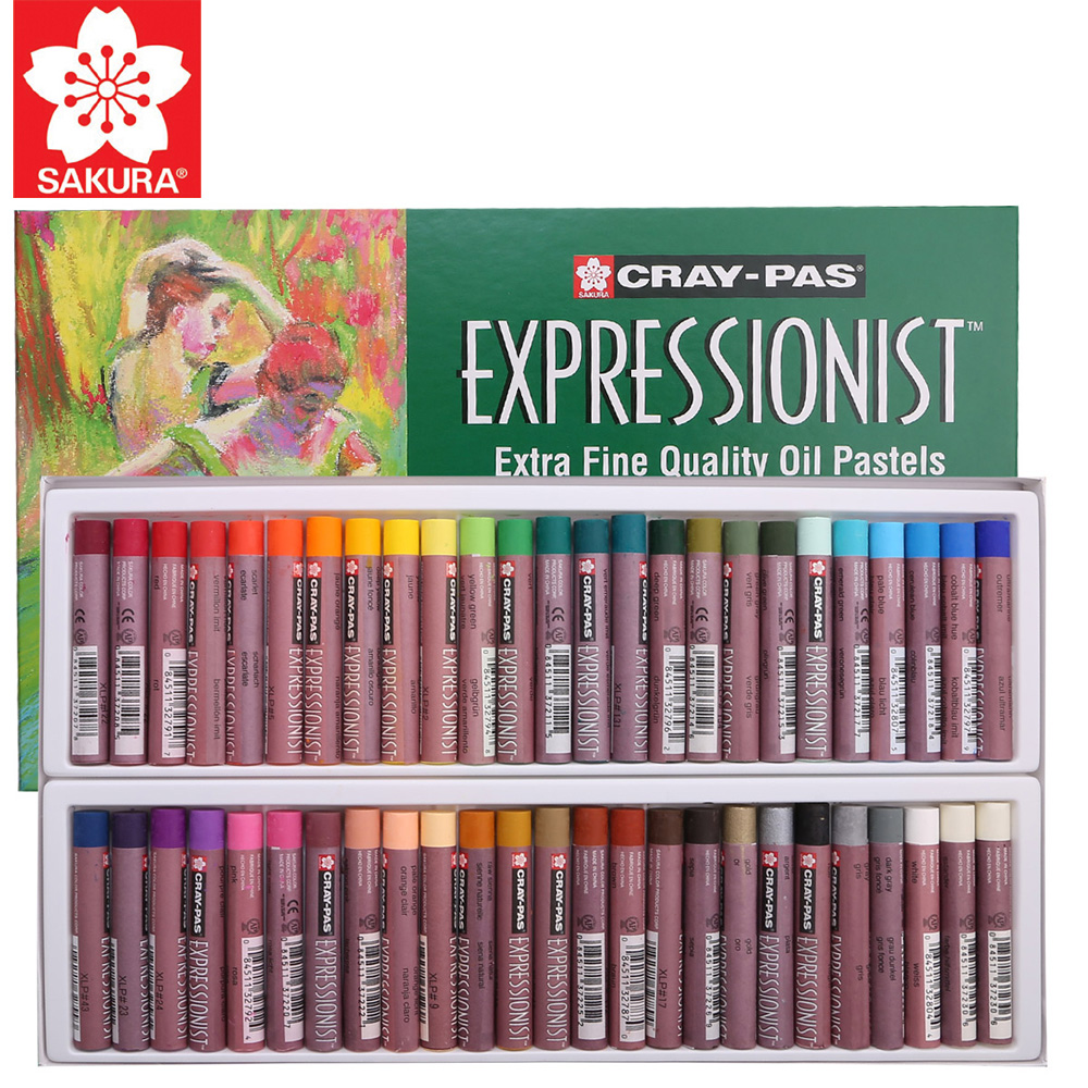 Sakura Oil Pastel Set XLP 12/16/25/36/50 Pieces Cray-Pas Expressionist Assorted Color Children Graffiti Color Crayon Suit