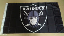 Oakland Raiders logo Flag 3x5FT NFL banner150X90CM 100D  Polyester brass grommets custom flag, Free Shipping