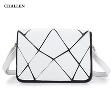 Water Cube Patchwork Cover Shoulder Messenger Bag for Lady Luxury Handbags Women Bags Designer Women Messenger Bags(China)