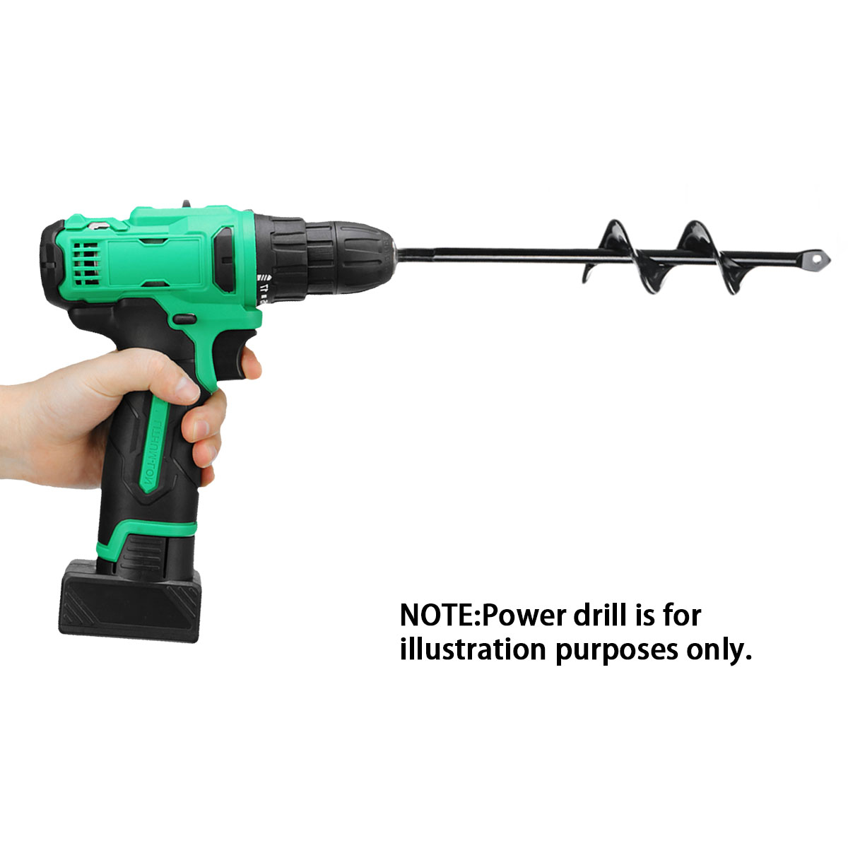 Power Drill - Earth Auger Hole Digger Tool Garden Planting Machine Drill Bit Fence Borer Post Hole Digger