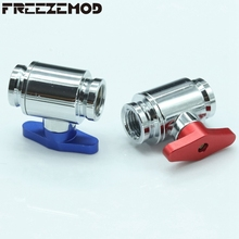 FREEZEMOD Red /Blue G1/4'' thread brass valve double female part for waterway control computer water cooling system. FM-YGNSA(China)