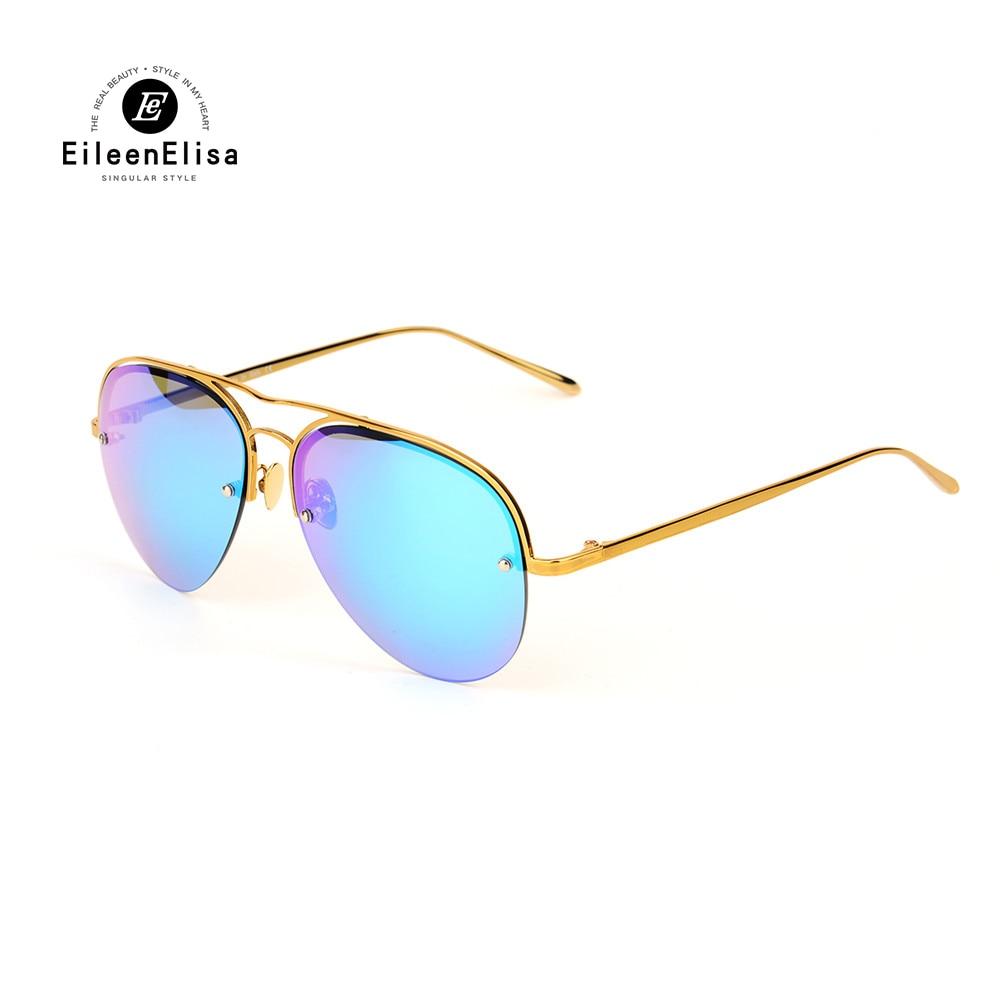 Eileen&amp;Elisa Pilot Sunglasses Men Women Brand Designer Sport Gold Mirror Sun Glasses Shades Polarized Sunglasses 2017<br><br>Aliexpress