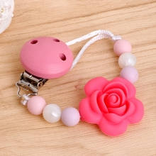 Buy 2018 New Baby Kids Silicone Chain Clip Holders Flower Pacifier Soother Nipple Leash Strap for $1.88 in AliExpress store