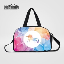 Dispalang Medium Sized Women Travel Bag Unicorn Portable Duffle Bag Carry On Bag Weekend Bag Of Trip Ladies Travel Accessories