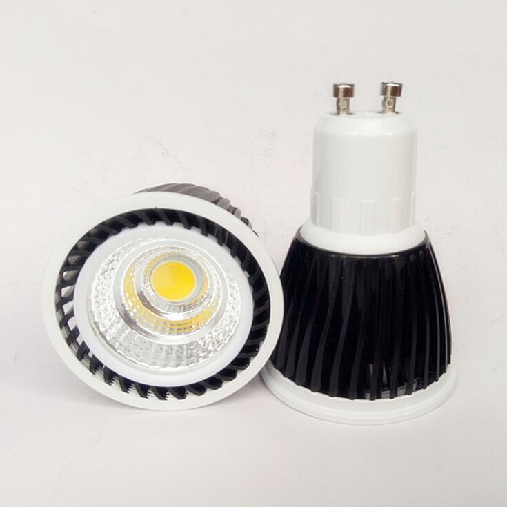 Factory Hot sale Wholesale price Dimmable 5W COB LED Spot Lamp GU10 MR16 E27 LED Bulb  Light AC85-265V/AC110V/AC220V<br><br>Aliexpress