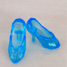 300Pairs/Lot Wholesale Cheap Dolls Accessories High Heel Plastic Doll Shoes 1/6