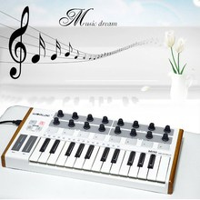 Worlde Mini Professional 25-Key USB MIDI Drum Pad and Keyboard Controller