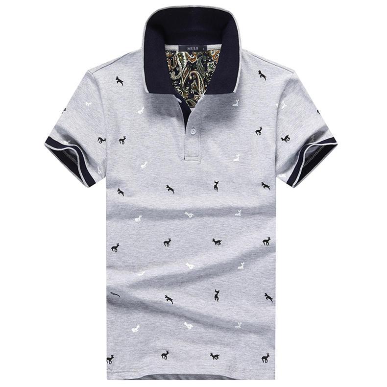 2Pcs Lot Mens  Shirt Coon Polka Dot Summer Short 3XL Male  Men Top Tees Cool Muls Brand Clothing Navy Black White Gray-08