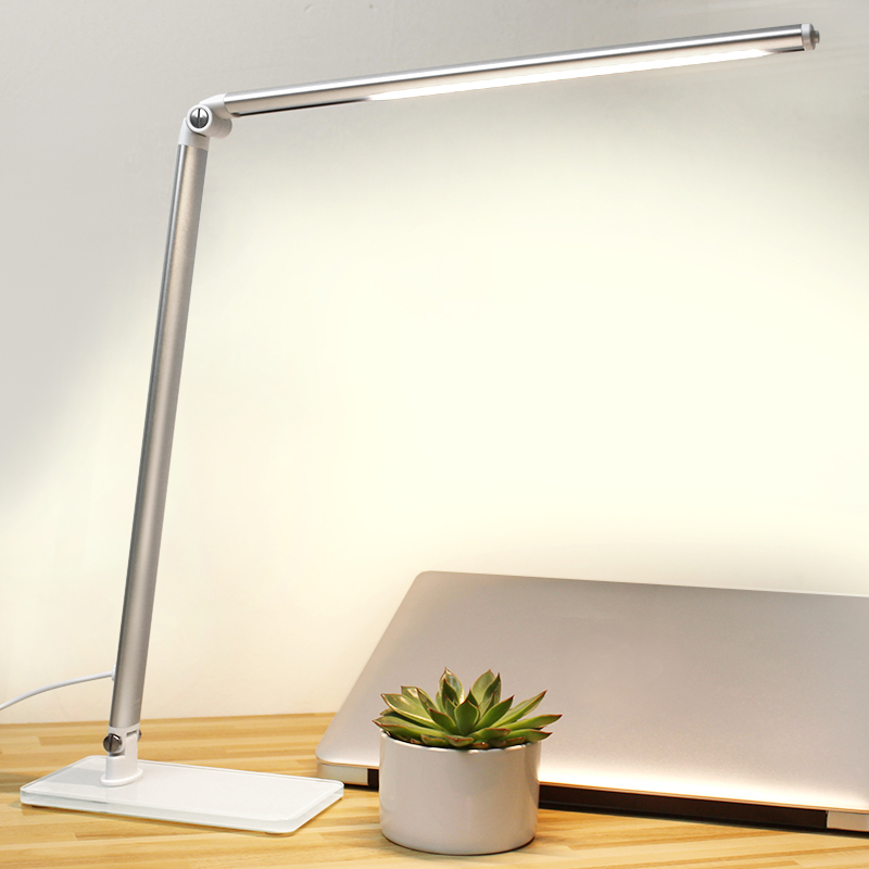 NEDW LED desk lamp eye protection dormitory reading lamp plugged desk light bedside energy saving<br>