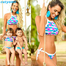 Cutyome Swimwear Mother And Daughter Son Clothes Family Look Floral Bikini Swimming Matching Mommy And Me Beach Swim Set Outfit