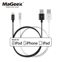 MaGeek [2pcs] 1m/3.3ft Mobile Phone Cables MFi Lightning to USB Cable for iPhone 6 6s 5 iPad 4 mini Air iOS 8 9 10(China)