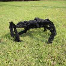 New Sale Simulate Black Giant Hairy Spider Halloween Party Prop Decoration Halloween Spider Decor 30CM