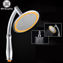 Rotate 360 Degree ABS Chrome Bathroom Rainfall Shower Head Water Saving Extension Arm Hand Held Shower Head