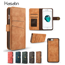 Vintage Genuine Wallet Leather Case for iPhone 7 Plus 6 6S Plus 5S SE Magnetic Flip Phone Pouch Cover For Samsung Galaxy S7 Edge(China)