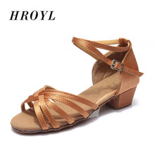 601 High quality new arrival wholesale girls Children/child/kids ballroom tango salsa latin dance shoes low heel shoes