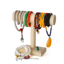 High Quality Wooden T Bracelet Display  Stand Jewelry Holder Anklet Display Rack Headwear Showing Shelf  Watch Showcase