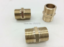 "Free Shipping (10pcs/lot) Double Male 1/2"" Brass Coupling Fittings Equal M1/2""Double Nipples Fittings Copper"