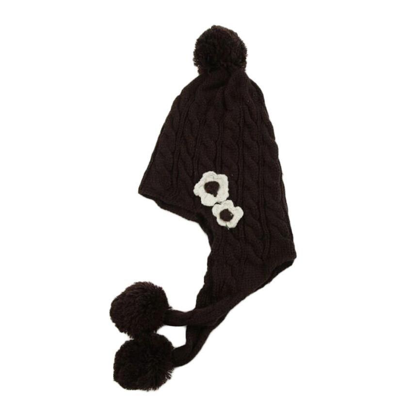 2016 Korean New Fashion Baby Girls Boys Kids Children Dual Ball Knit Sweater Cap Hats Winter Warm Knitted Skullies &amp; BeaniesÎäåæäà è àêñåññóàðû<br><br><br>Aliexpress