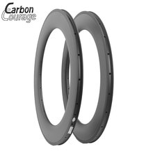 Carbon Rims 700C Road Bike 88mm Depth 23mm Width Bicycle Rims Carbon Wheels Clincher 3K/UD Glossy/Matte Fatbike Carbon Rim
