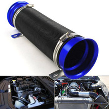 ZYHW Brand Universal Washable Durable Blue universal turbo air intake pipe 3 inch Multi Flexible Adjustable Cold Air Intake Pipe(China)