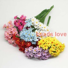 Sale!!! 1.5cm head Multicolor handmade Mulberry Paper Daisy Flower artificial sunflowers(100pcs/lot) Pick color(w03289)