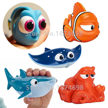 Finding Dory Baby Bath Toy Set of 5 Little Dory Marlin Mr. Ray Destiny Hank Bath Squirters Animal Figure Kids Toys Children Gift(China)