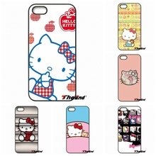 Fashion Hello Kitty Minnie Cartoon Cat Phone Cover For iPhone 4 4S 5 5C SE 6 6S 7 Plus Samsung Galaxy Grand Core Prime Alpha(China)