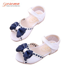 New Girl Sandals Peep Toe Bowtie Princess Fish Month Baby Girls Sandals Kids Party Design Flower Shoes For Children Summer Shoes