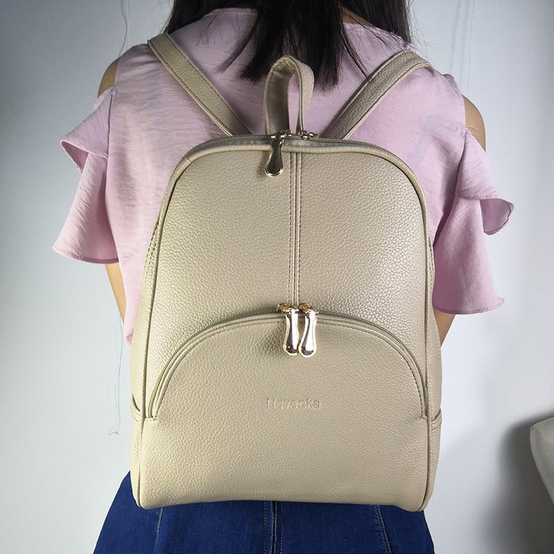 Nevenka Women Backpack Leather Backpacks Softback Bags Brand Name Bag Preppy Style Bag Casual Backpacks Teenagers Backpack Sac12