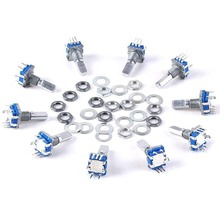 10pcs 15x12mm Rotary Encoder Switch with Keyswitch Push Button Switch Electronic Component