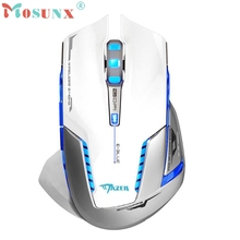Beautiful Gift 100% Brand New 6D 2500 DPI Blue LED 2.4GHz Wireless Gaming Mouse White Wholesale price Jan08