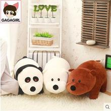 1pcs 40cm We Bare bears Cartoon Bear , grizzly gray white bear panda stuffed plush toy doll, doll birthday gift,kids toy
