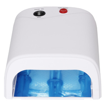 2017 Nail Art Dryer Gel Curing UV Lamp 36W 3X 12W Light Tube equipment machine tools for Led gel + builder gel