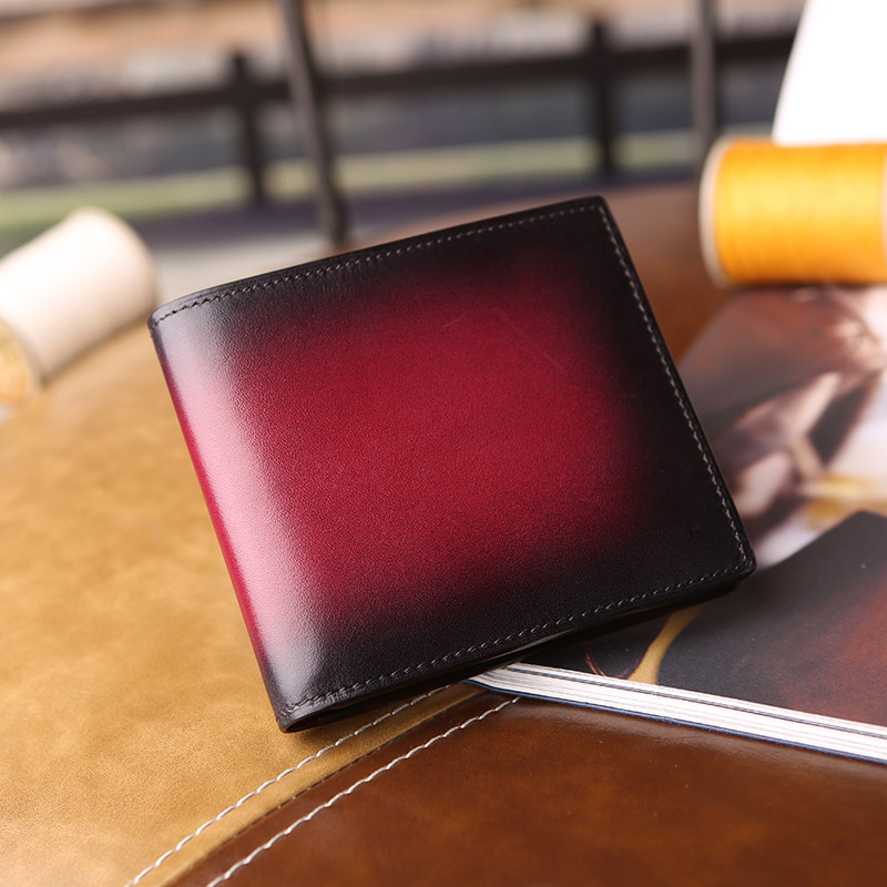 berlutii Makore Polished-Leather Billfold Wallet