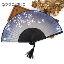 Free Shipping 1pcs Black Bamboo Trim Carved Folding Fans wedding decoration Mariage Birthday Party Supplies Christmas Gift(China)