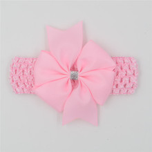 Classic headbands hair elastic bands ribbon bows kids   head wraps accessory lace satin flower hairband headwrap