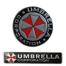 car-styling Accessories Umbrella Corporation 3D Aluminum Motorcycle Car Sticker For ford focus bmw mazda opel toyota car-cover(China)