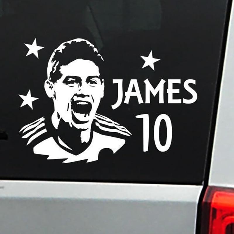 James Football Player Sticker Sports Soccer Car Decal Helmets Kids Room Posters Vinyl Wall Decals Football Sticker