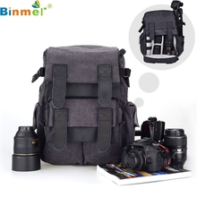 Binmer SimpleStone  1PC CADEN M5 Travel Double Shoulder DSLR SLR Camera Bag Laptop Backpack For Canon May26