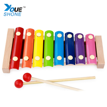 Wooden Toys For Children Piano Music On Children's Early Wooden Percussion Instrument Wholesale Custom Knock(China)