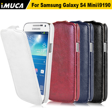 Flip Leather Case For Samsung Galaxy S4 Mini i9190 i9192 Phone Cases Cover Pouch Mobile Phone Skin Protective Shell(China)